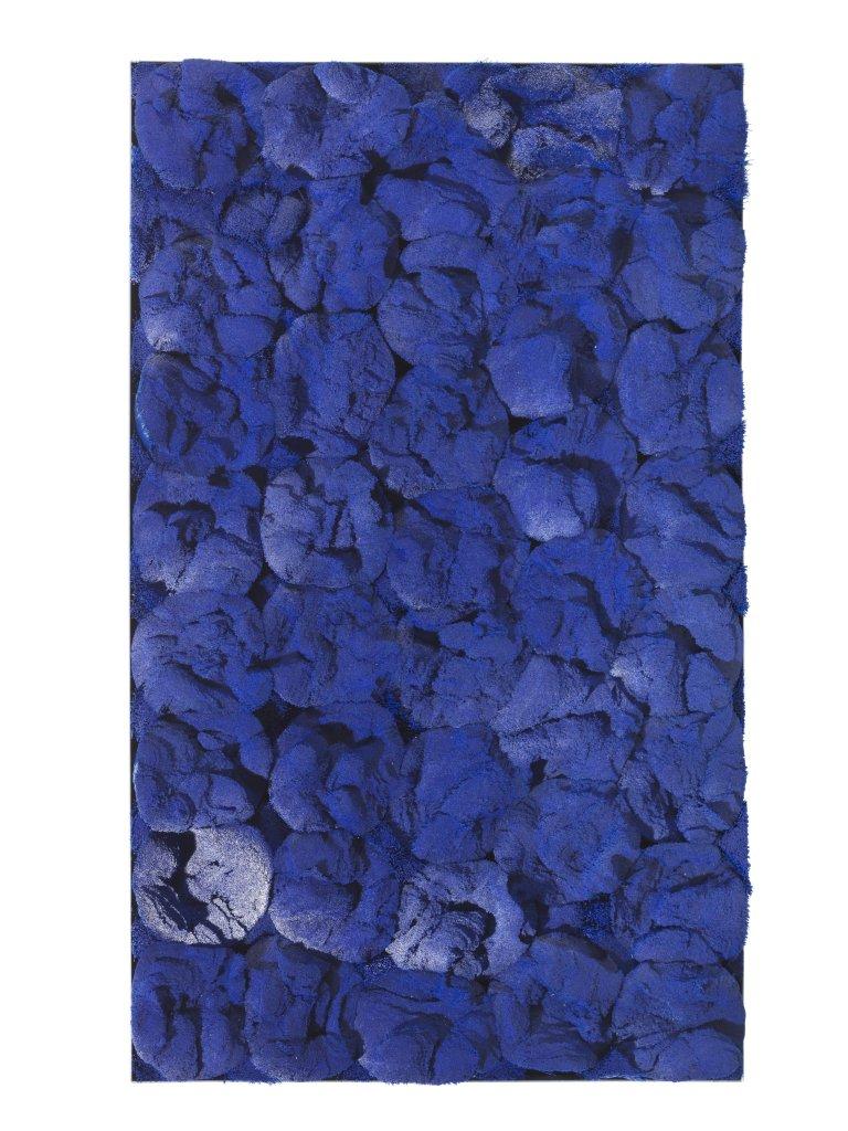 Setole blu - poil de balai en plastique sur panneau - 2015