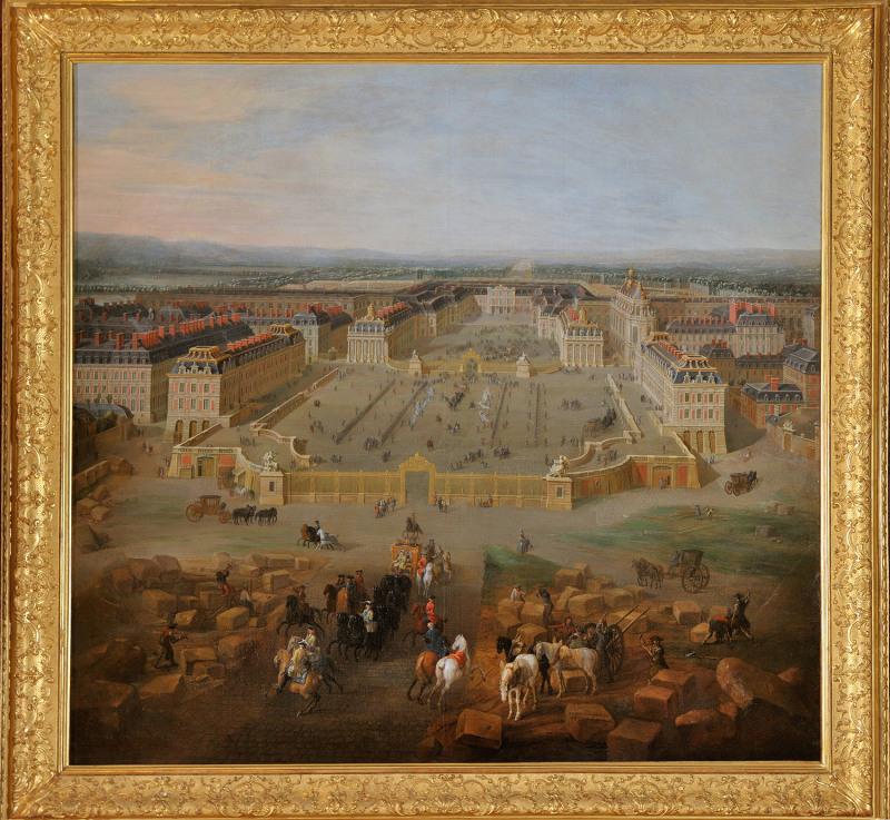 Vue du Chateau de Versailles depuis la Cour