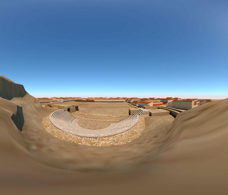 Vue en réalité virtuelle du Théâtre d'Orange