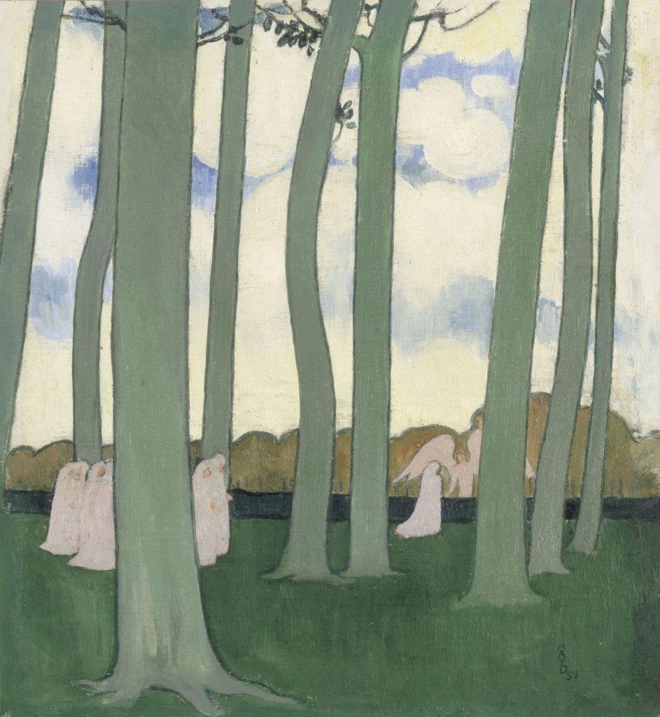 Maurice Denis, Les Hêtres de Kerduel ou Les Arbres verts, 1893