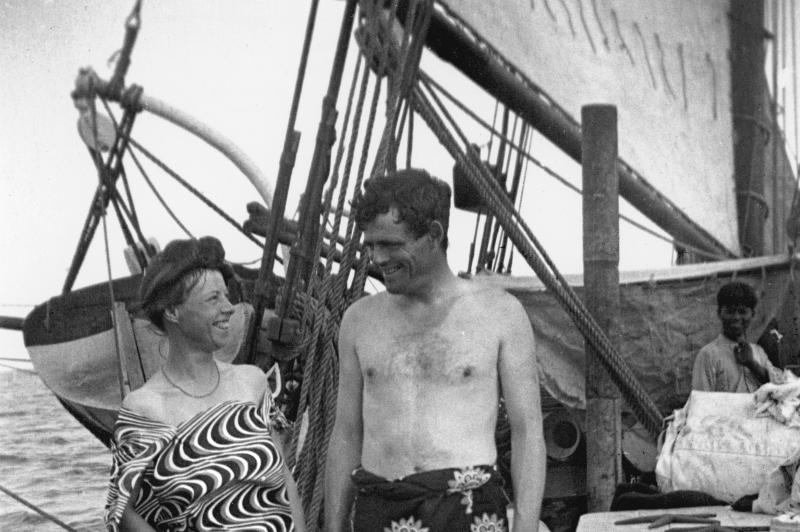 Jack et Charmian à bord du Snark