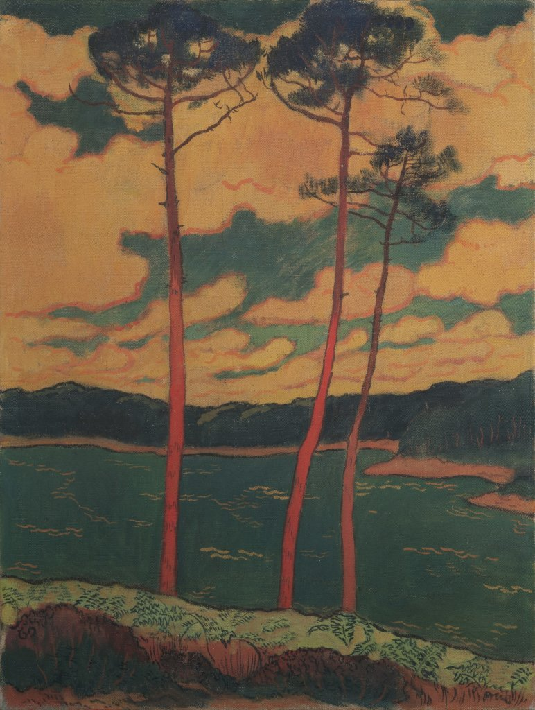 Georges Lacombe, Les Pins rouges, 1888