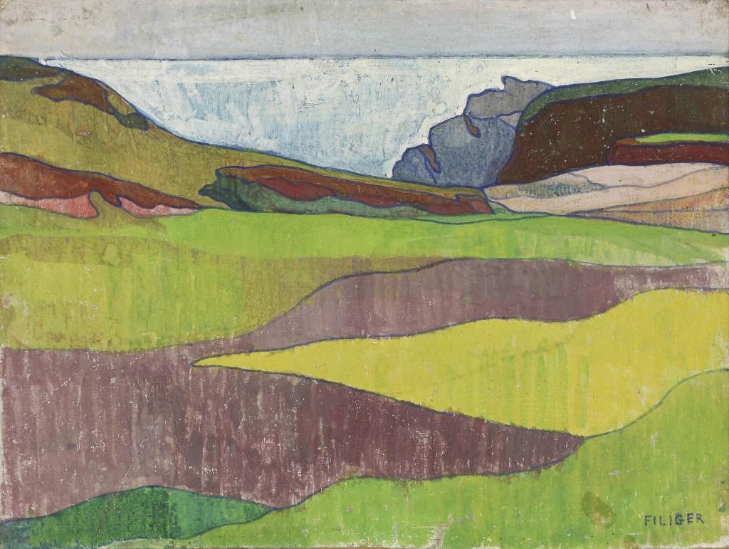 Charles Filiger, Paysage rocheux, Le Pouldu, Vers 1891