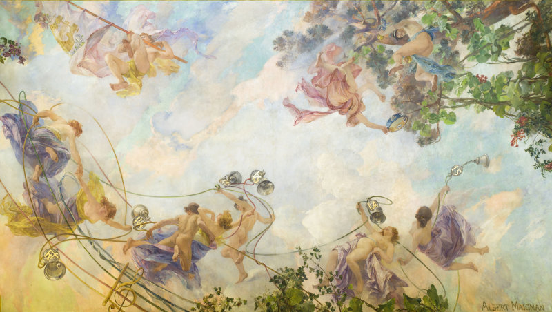Plafond du Foyer DR RMN-Grand Palais - Christophe Chavan