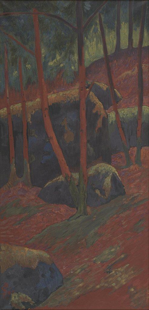 Paul Sérusier, Le Bois rouge, Vers 1895