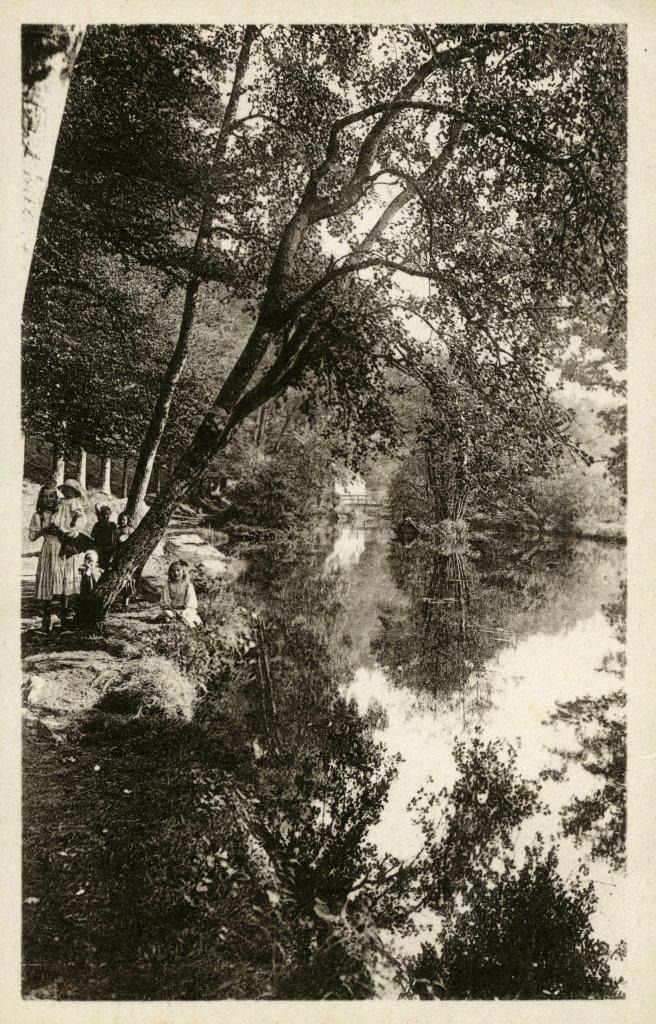 Vue du Bois d'Amour, Carte postale noir et blanc - Collection Musée de Pont-Aven