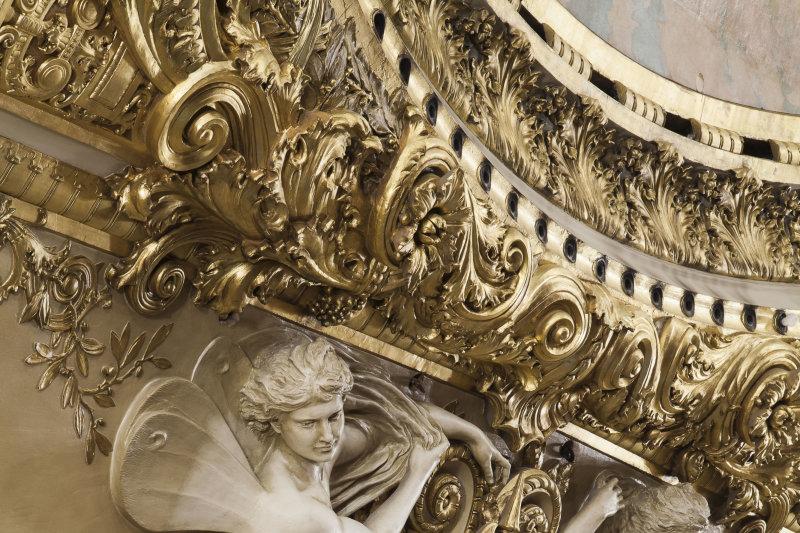 Détail du manteau d'Arlequin DR RMN-Grand Palais - Christophe Chavan