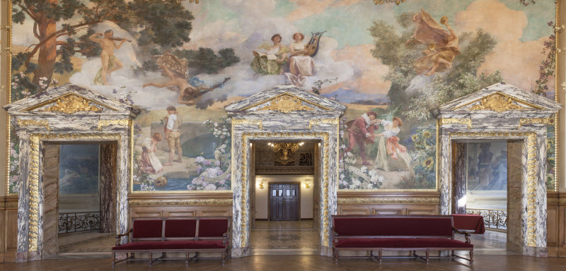 Foyer, vue vers l'avant-Foyer DR RMN-Grand Palais - Christophe Chavan