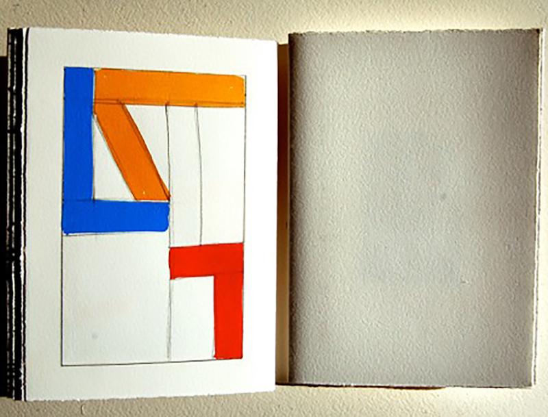 Atelier. Alain Clément. 2 gouaches + une photographie rehaussée + un texte de J.Barral. 20 ex