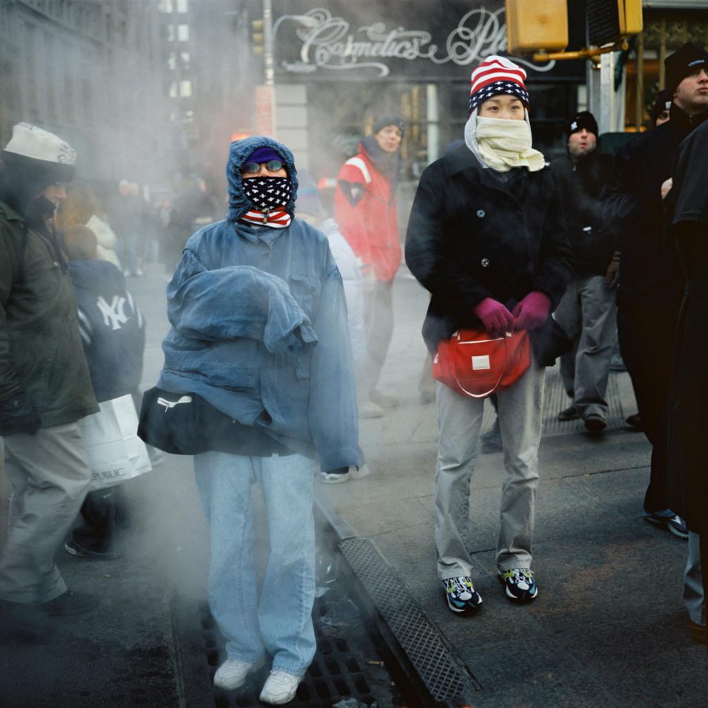 Autour des ruines du World Trade Center, suite aux attentats du 11 septembre 2001. New York, ETATS-UNIS 30/12/2001