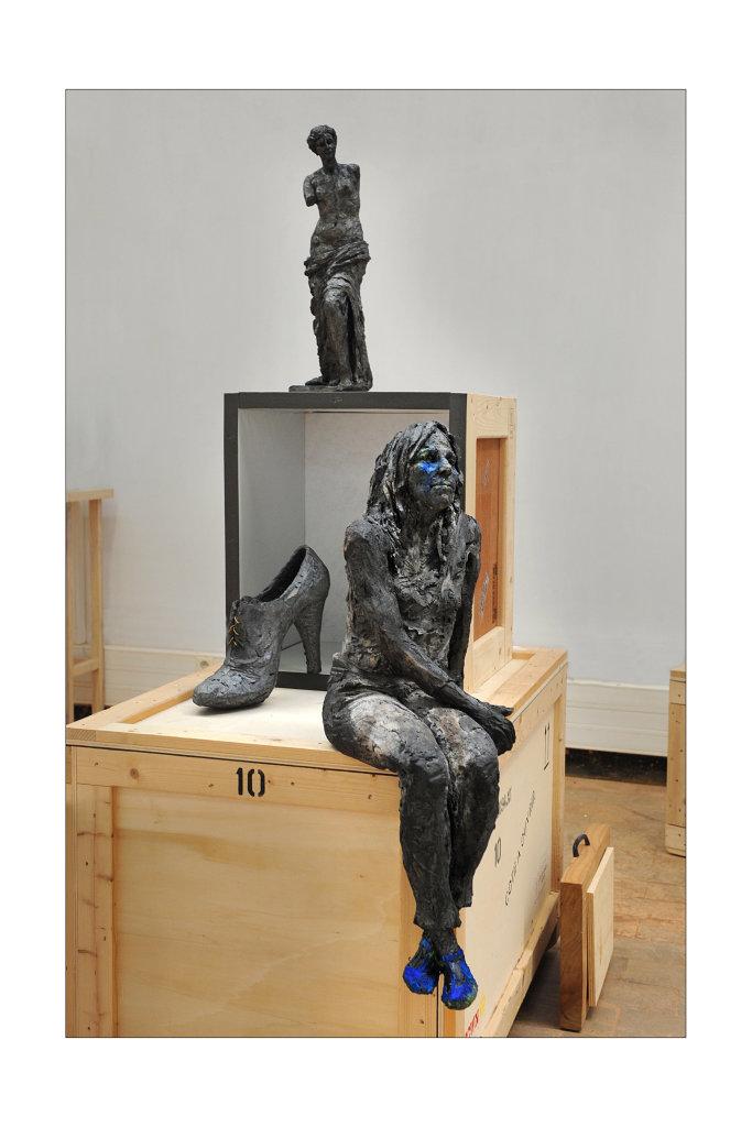 Vue de l'exposition Cécile Raynal