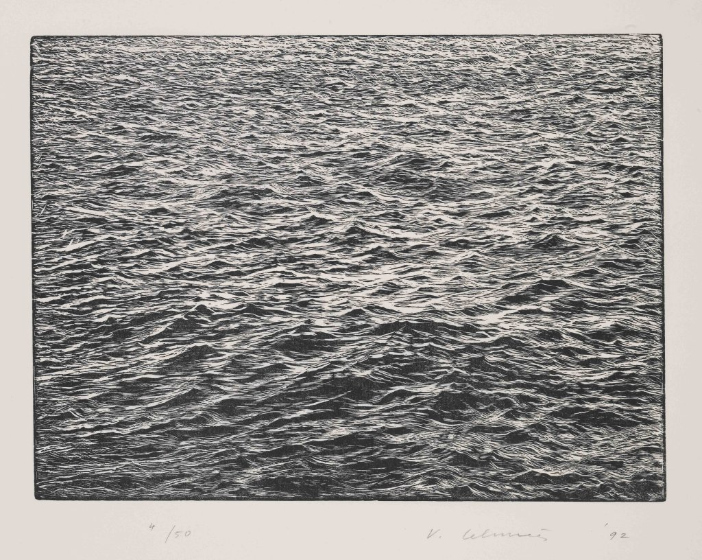 Vija Celmins, Ocean Surface Woodcut 1992, 1992