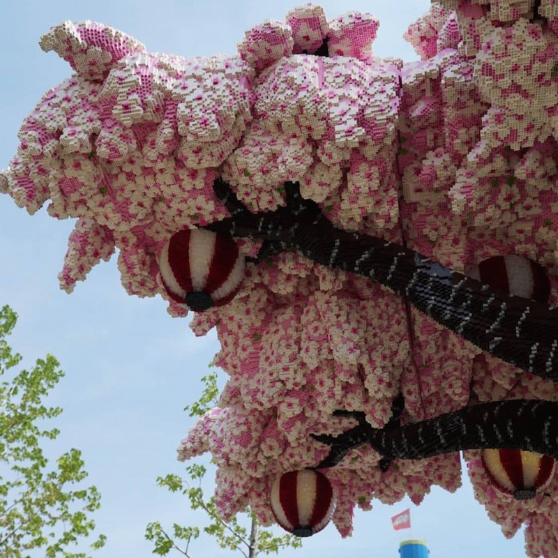 Cherry Blossom LEGO tree detail