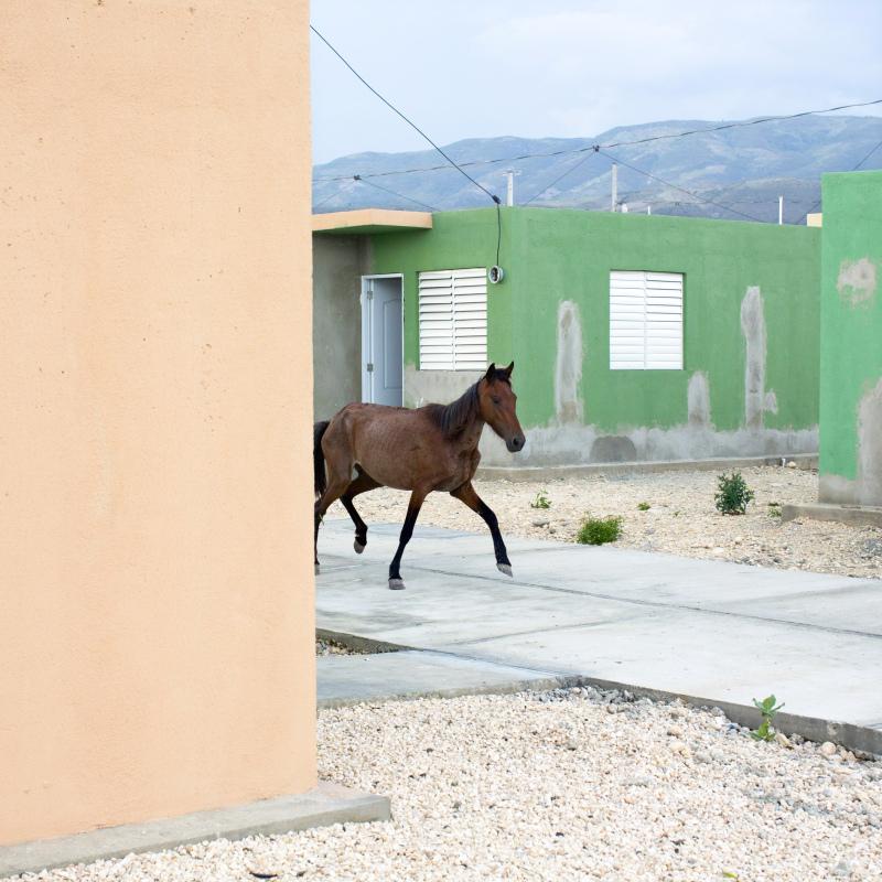 © Corentin Fohlen/ Divergence. Port-au-Prince, Haiti,  20 aout 2013. village Lumane Casimir vide