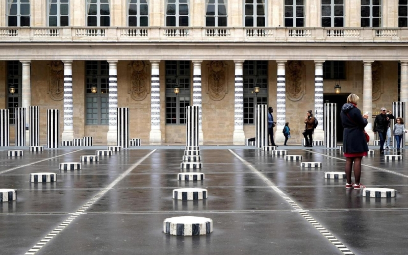 Les colonnes du Module de Zeer © AFP / Jean Faucheur