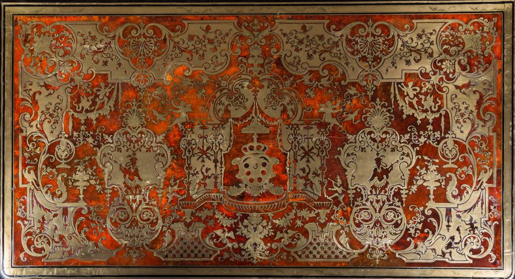 Détail du plateau d'une commode - Dolce Vita (Galerie Gilles Linossier)