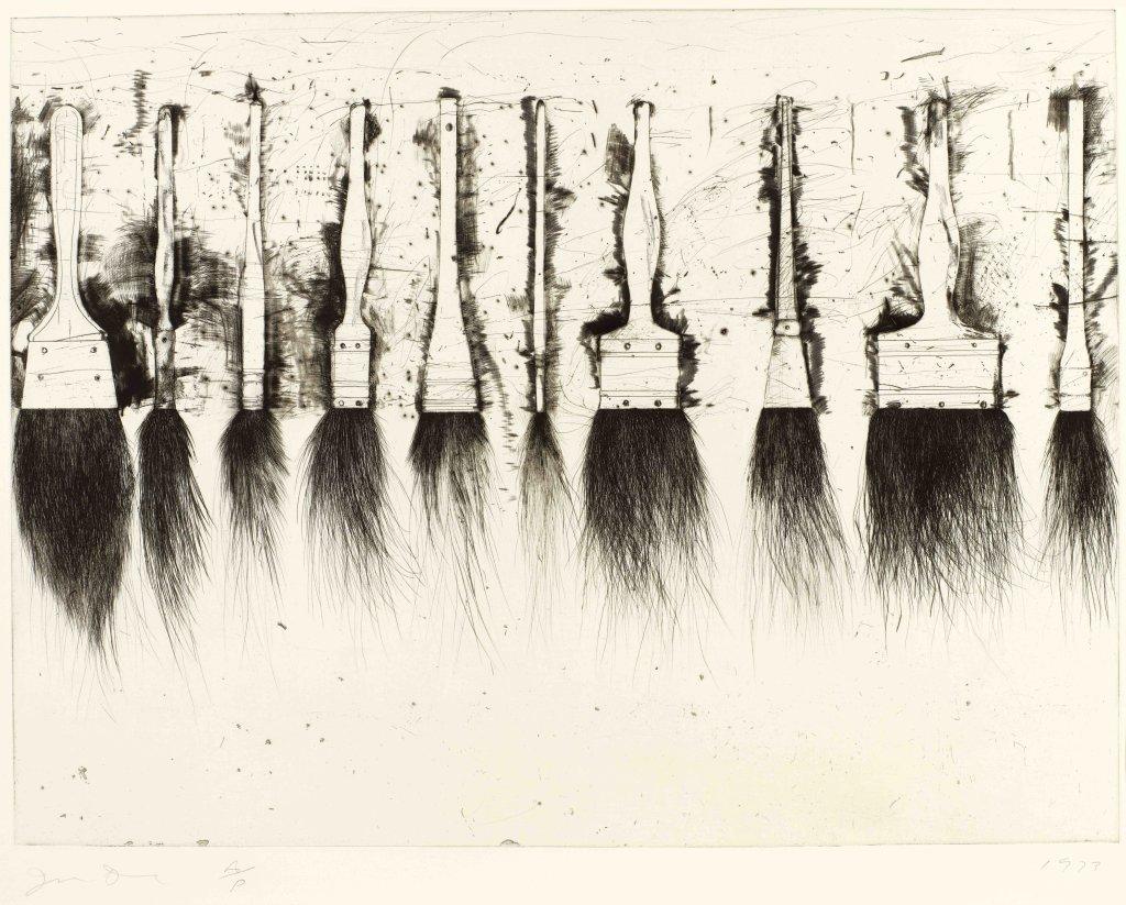 Jim Dine, Five Paintbrushes (troisième état), 1973
