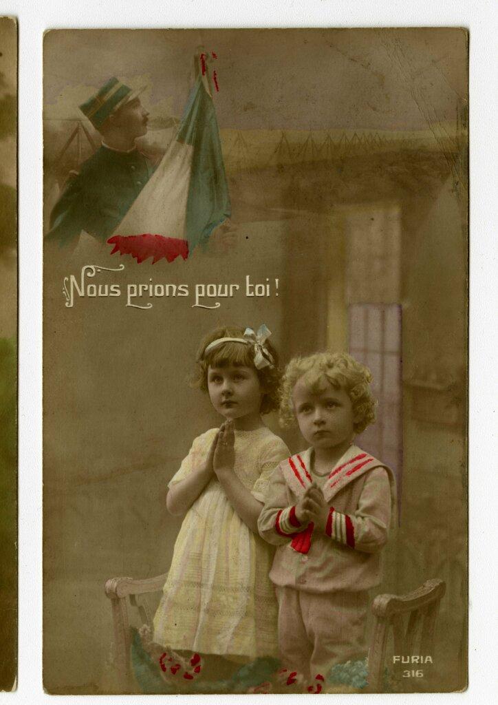 Nous prions pour toi, ca. 1914-1915, carte postale