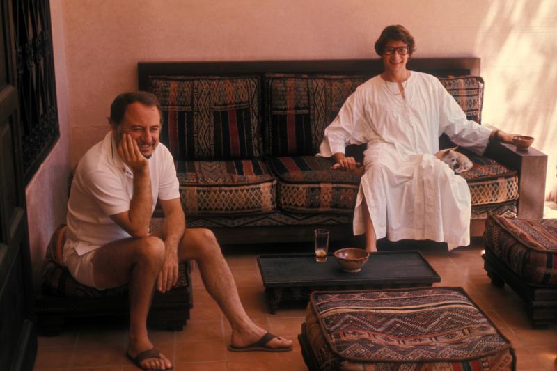 Pierre Bergé et Yves Saint Laurent à Marrakech, 1977