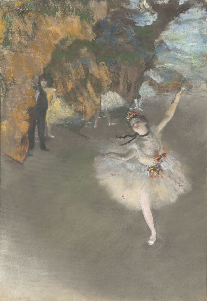 Edgar Degas, Ballet dit aussi l'Etoile, Paris Musée d'Orsay, RF 1979, photo © Musée d'Orsay dist RMN Grand palais Patrice Schmidt