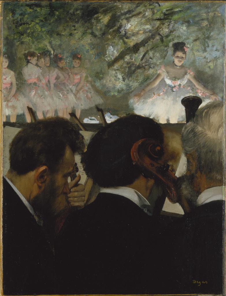 Edgar Degas Musiciens à l'orchestre, hst, Frankfurt am Main, Stadel Museum, ©Städel Museum - ARTOTHEK