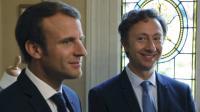 Emmanuel Macron et Stéphane Bern