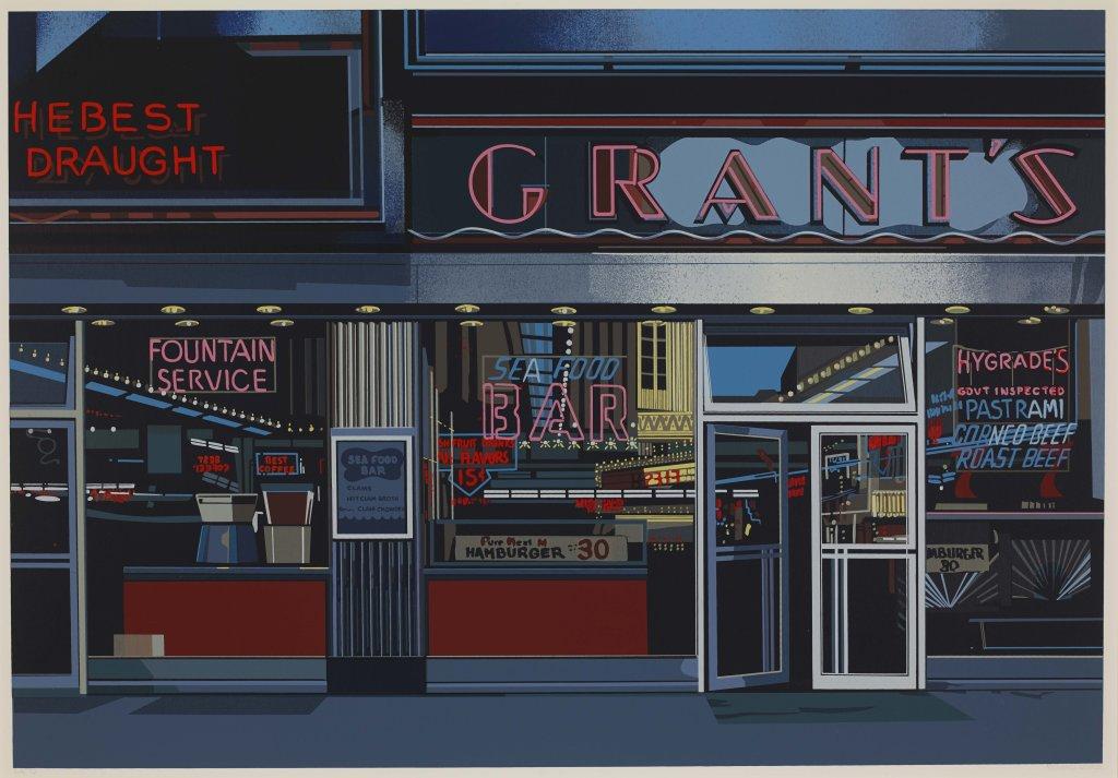 Richard Estes, Grant's, du portfolio Urban Landscapes, 1972
