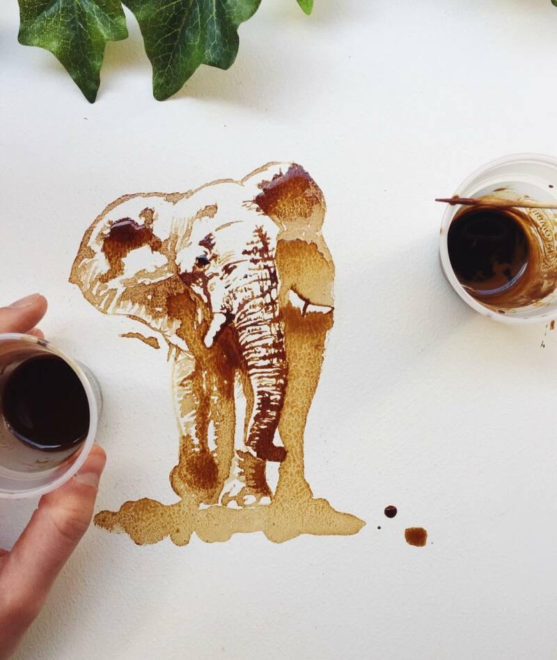 © Giulia Bernadelli, elephant coffee