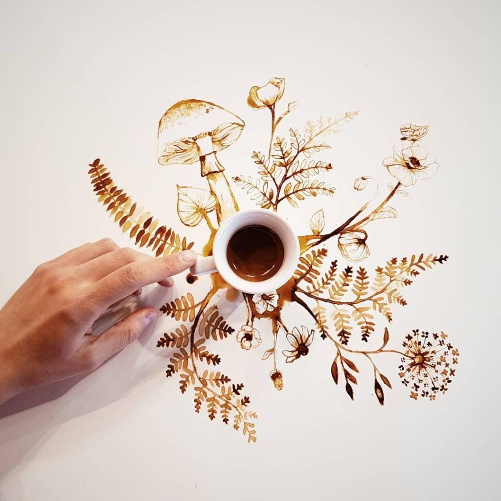 © Giulia Bernadelli, mushrooms coffee