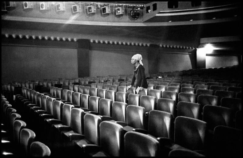 FRANCE. Paris. 9th arrondissement. Olympia Concert Hall. Thursday, March 25th 1969. The American singer Nina SIMONE.