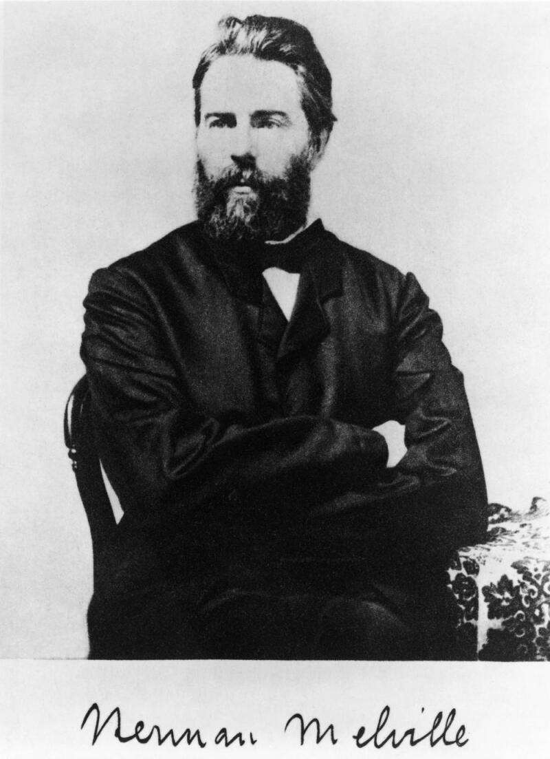 Undated photograph of Melville. Herman Melville (1819-1891) was an American novelist, short story writer, essayist and poet. He is best remembered for his novel Moby Dick. After skyrocket literary success in the late 1840s, his popularity declined in the mid-1850s and never recovered during his lifetime. When he died in 1891, he was almost completely forgotten. It was not until the early 20th century that his work won recognition, especially Moby Dick, which was hailed as one of the literary masterpieces of both American and world literature. He was the first writer to have his works collected and published by the Library of America. His poetry is not as highly regarded as his fiction, although some critics place him as the first modernist poet in the United States. Melville died at his home in New York City early in 1891, age 72. The doctor listed