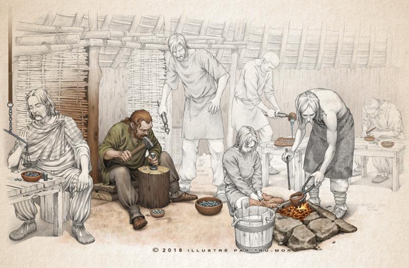 Illustration - atelier de frappe