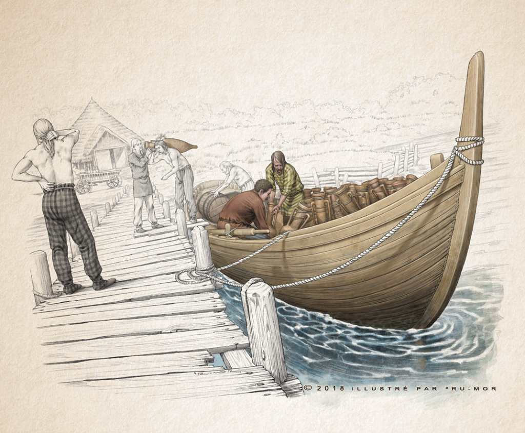 Illustration - embarcadère