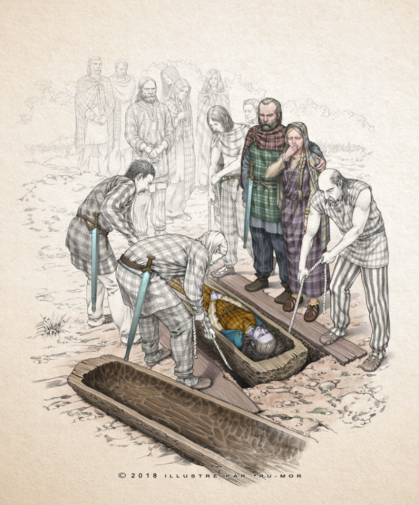 Illustration - enterrement