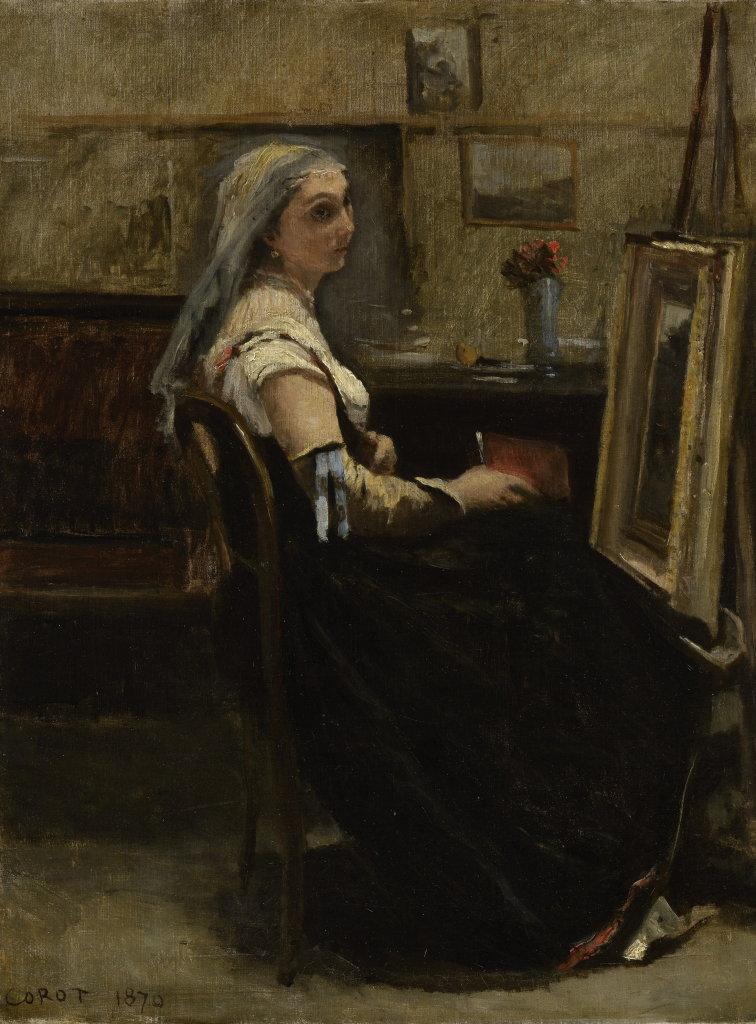 Jean Baptiste Camille Corot, L'Atelier de Corot, 1870