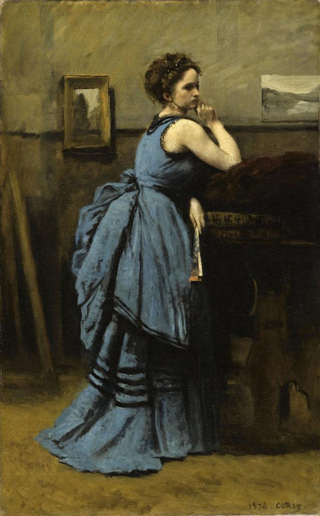 Jean Baptiste Camille Corot, La dame en bleu, 1874