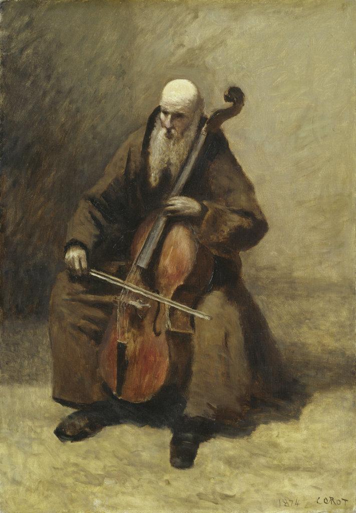 Jean-Baptiste Camille Corot Le Moine au violoncelle, 1874