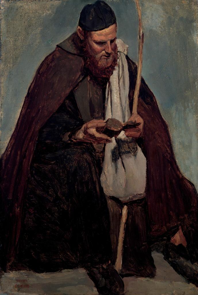 Jean Baptiste Camille Corot, Moine italien assis lisant,1827