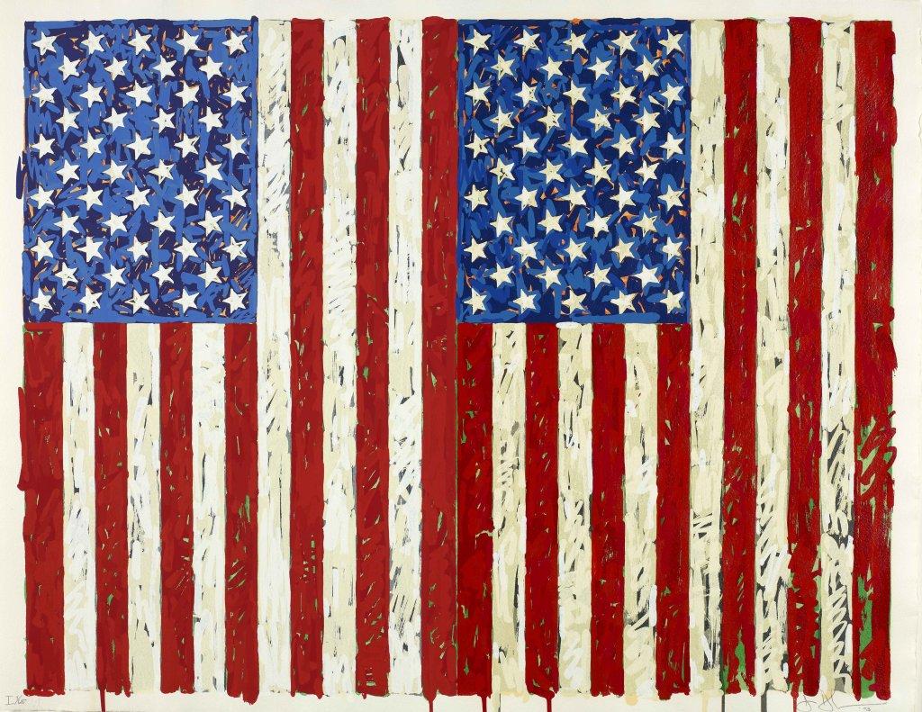 Jasper Johns, Flags I, 1973 Sérigraphie en couleur
