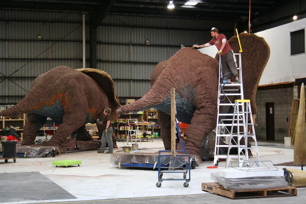 La marche des dinosaures - AccorHotel Arena - Making of3