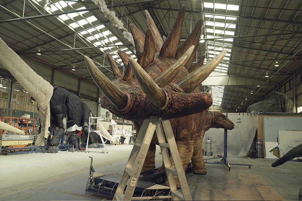 La marche des dinosaures - AccorHotel Arena - Making of4