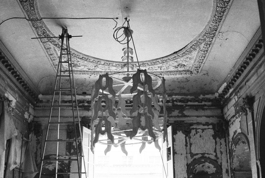 Diego Giacometti, Lustre « à motif de feuilles », 1983-1985