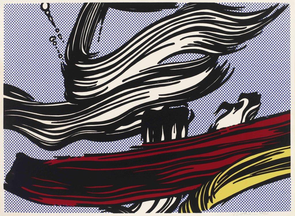 Roy Lichtenstein, Brushstrokes, 1967 Sérigraphie en couleur.