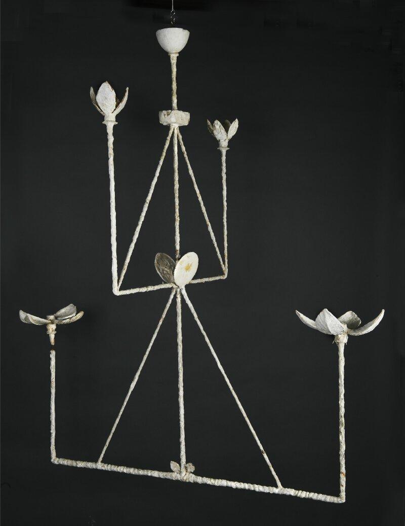Diego Giacometti, Plafonnier à quatre branches, 1982-1984