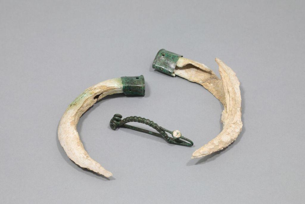 Mobilier de la sépulture 7 de Serbonnes « La Créole », Inv.D.89.5.19 ; 27, collection des musées de Sens. Dépôt d'État