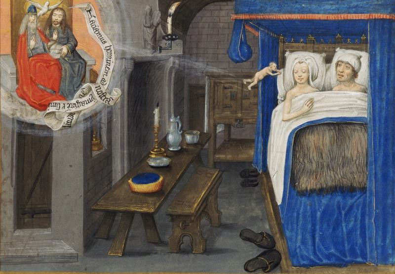 Une procréation assistée…par le Ciel, Traité divers, Paris, Bibliothèque de l'Arsenal, ms 5206, folio 174 (XVe siècle)