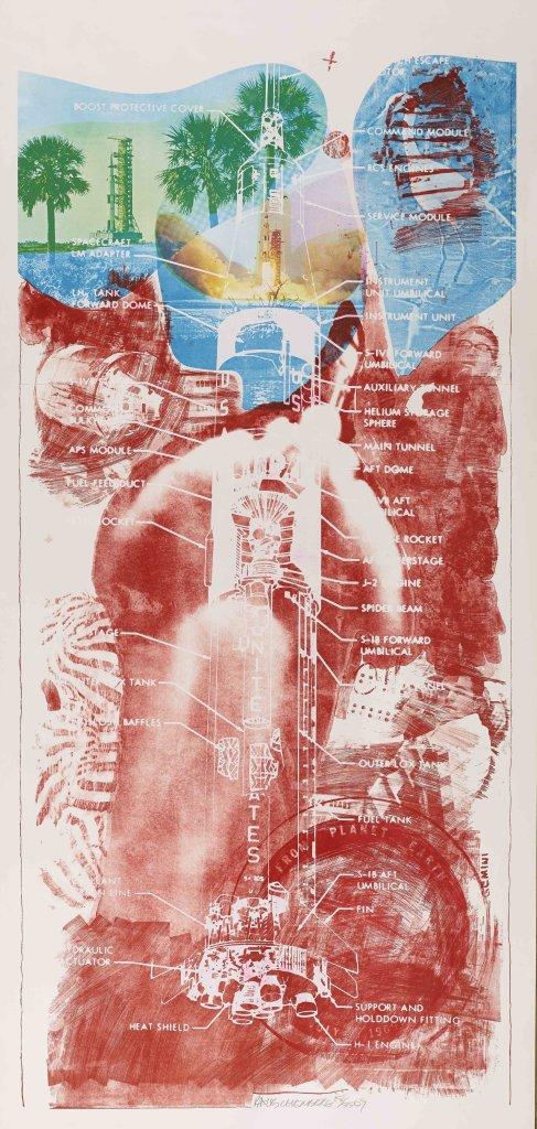 Robert Rauschenberg, Sky Garden,de la série Stoned Moon, 1969