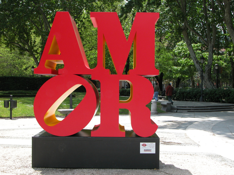 Robert Indiana, AMOR, Madrid