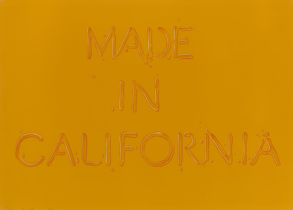 Ed Ruscha, Made in California, 1971Lithographie en couleur.