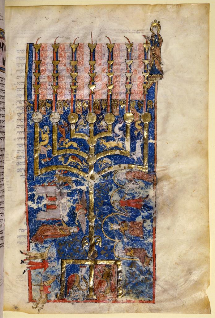 Mahzor copié dans les environs de Paris vers 1288, à présenter au niveau d'une prière, ici début de la prière pour Shabbat matin, bibliothèque nationale de France